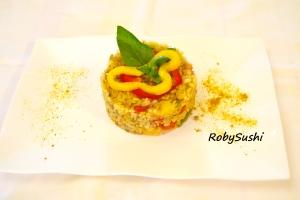 Tris di cereali primavera. Ricetta e foto di Roberta Castrichella.
