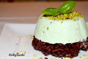 Semifreddo pistacchio e basilico.