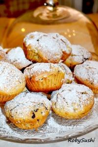 Muffin con cioccolato e fichi freschi. Ricetta e foto di Roberta Castrichella.
