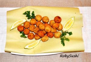 Polpette di sogliola al curry. Ricetta e foto di Roberta Castrichella.