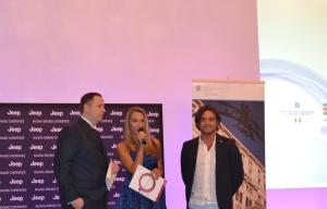 Max Viggiani e Raffaella Corsi Bernini ed Emiliano Usai, ai 'Salotti del Gusto'.