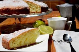 Torta allo yogurt profumata al lime. Ricetta e foto di Roberta  Castrichella.