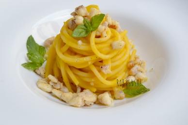 spaghetti con crema di zucca