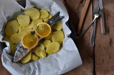 Spigola all'arancia - Ricetta con spigola